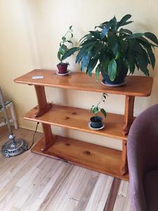 Bibliothèque en bois véritable