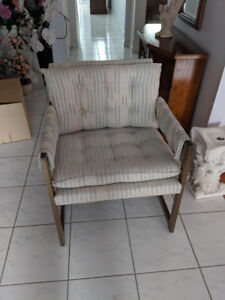 Upholstered Antique brass Chairs