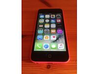 Pink iPhone 5c (unlocked, free delivery, more phones available)