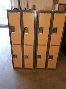 5 foot tall storage lockers.