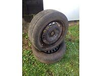 Used 185/55/15 good tyre on vauxhall 4 stud rim ideal as a spare wheel 07594145438