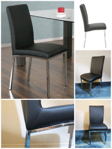 Brand new leatherette chairs. Black or white. Read details