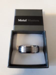 NEW Mens Tungsten Ring Silver Size 12