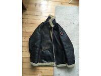 Vintage BSA sheepskin bomber jacket