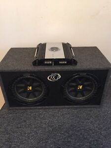 10 inch kicker subs with Phoenix gold amp
