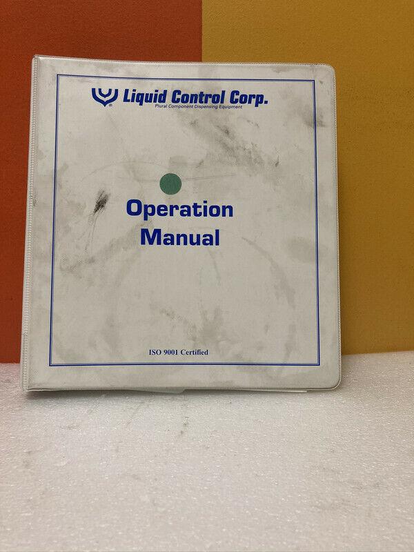 Liquid Control 3745 Operation Manual