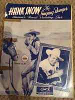 1953 Vintage Hank Snow Music Book