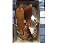 Sandals size 6 wedge brand new in box