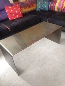 Amazing custom stainless coffee table