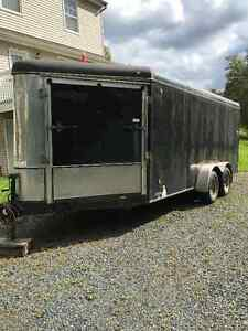 21 foot Enclosed V Nose Trailer with Ramp Doors