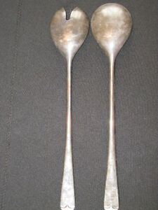 Salad serving set silver plated England West Island Greater Montréal image 1