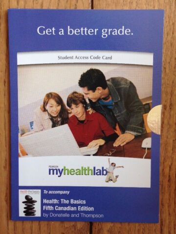 Access code for 5th Canadian edition of Health the Basics