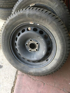 VW WINTER SNOW TIRE PACKAGE LIKE NEW