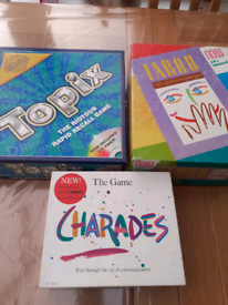 Board games, Topix, Taboo & Charades, £5 ono