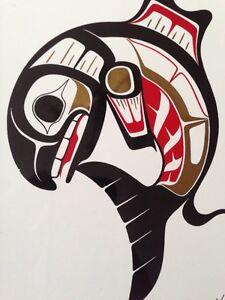 Ben Houstie native salmon art. Gatineau Ottawa / Gatineau Area image 2