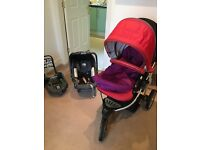 Britax b smart pushchair, car seat and base