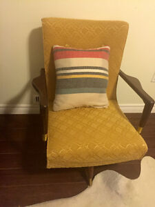 Beautiful Vintage occasional side chair, swivel and rocking.