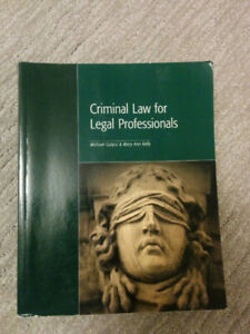 Criminal Law for Legal Professionals - Paralegal Textbook