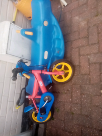 Seesaw and childrens 1st bike