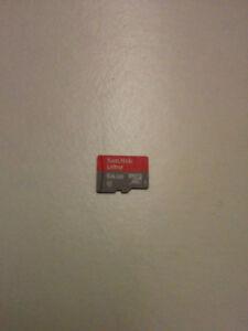 64 GB microSD card - SanDisk ultra - $20