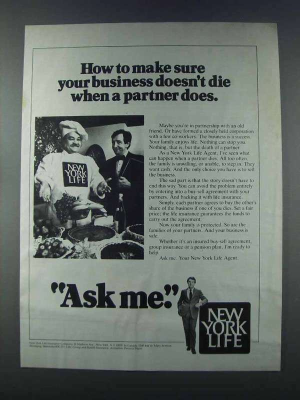 1981 New York Life Ad - Your Business Doesn