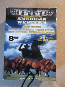 Great American Western Movies 8 DVD's  36 Movies