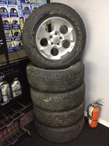 5 jeep wrangler wrangler rims and tires with working tpms sensor