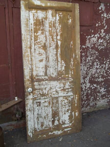 #greenspotantiques great old barn doors. shabby paint, slat door