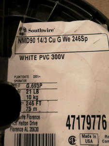 Roll of 14/3 Cu G We Wire for sale
