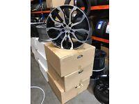 """22"""" alloy wheels alloys rims land Range Rover Vw Volkswagen transporter t5 5x120"""