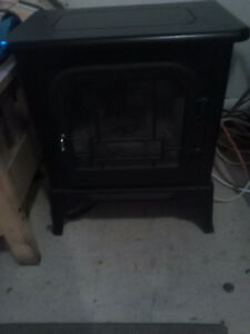 Nice black fire place heater