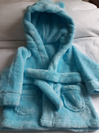 Blue Dressing Gown 6 - 12 months Brand New