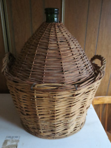 54 Litre Carboys/Demijohns - Wicker and Plastic - 8 available