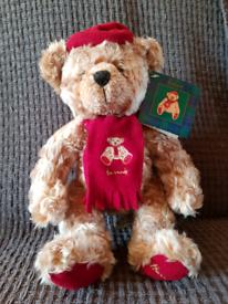 Harrods Vintage Christmas Teddy Bear