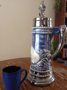 Unique Whaling Beer Stein