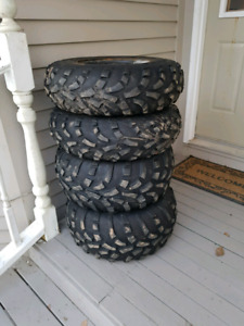 Set of Atv tires and rims