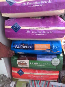5 items of dog dry food