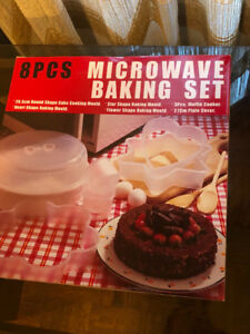 2 MICROWAVE BAKING SETS