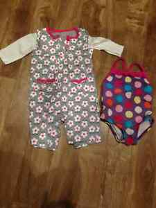 3-6 month girl's clothing lot, various brand names