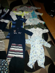 VARIETY 70 BABY BOY CLOTHES - SIZE 9-12 MONTHS