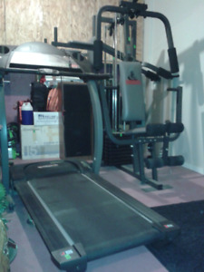 Pro-Form Treadmill and Weider Weights exercise machine