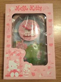 Hello Kitty Clock - New in box (2 designs available)