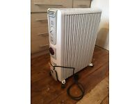Electric oil heater with timer