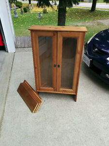 Ikea Half Round Drop Leaf table and Wall Cabinet - PRICE DROPPED Cambridge Kitchener Area image 4