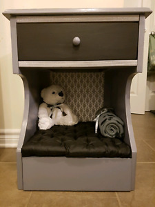 Just Fur Dreams Pet Bed and Side Table
