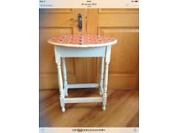 Lovely small table with Union Jack pattern on top