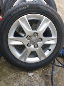 Audi A3 Alloy wheels 16 inch hankook tyres all with around 6mm