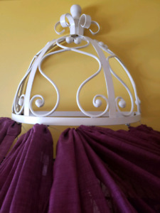 White canopy holder for crib or any size bed