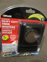 WOODS Outdoor 24-Hr Mechanical Heavy Duty Timer - NEW, in Pack