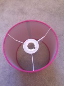 Pink ceiling or wall lampshade